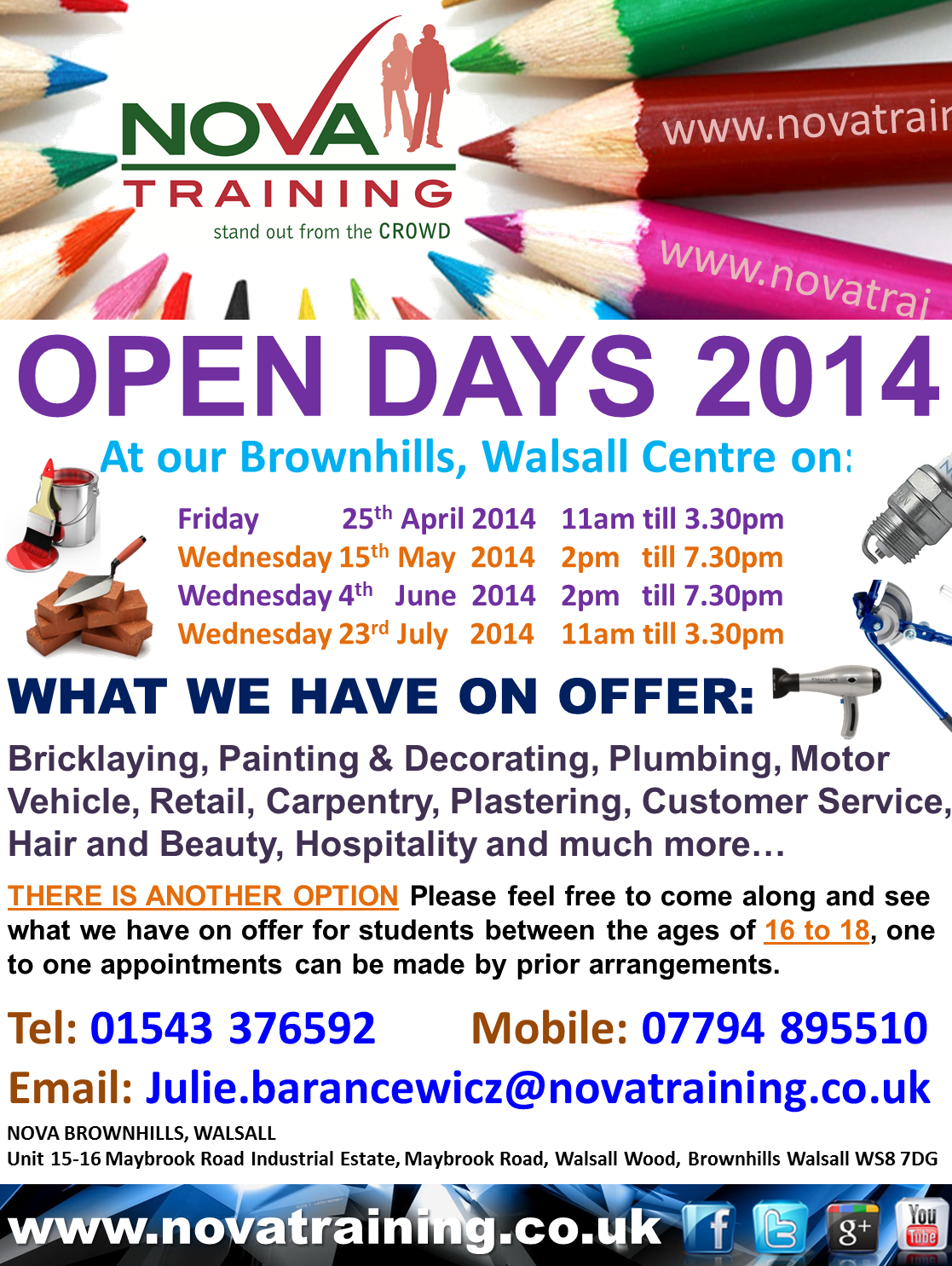 Brownhills Open Day 2014 Nova Training