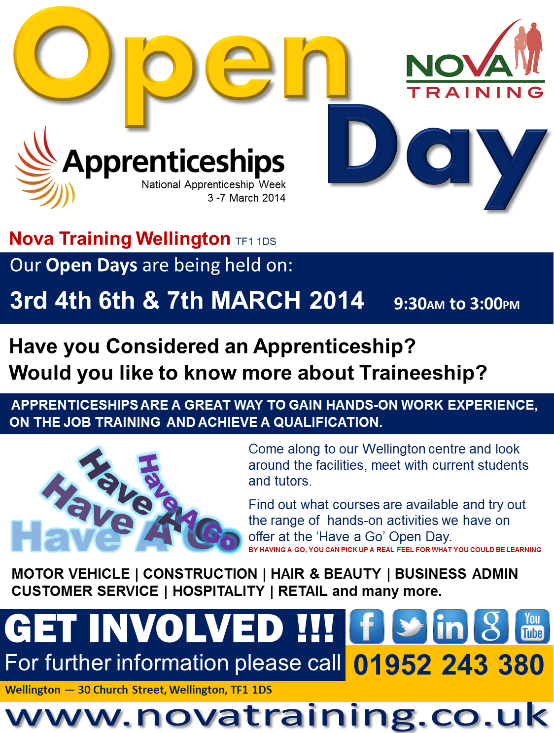 WELLINGTON APPRENTICESHIP WEEK 2014