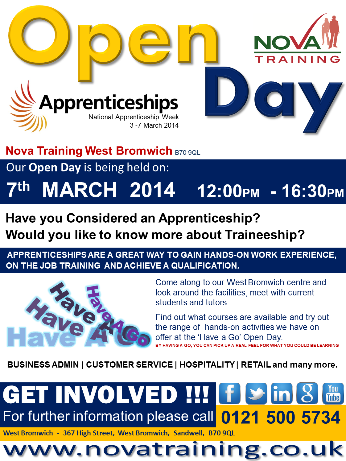 WEST BROMWICH APPRENTICESHIP WEEK 2014