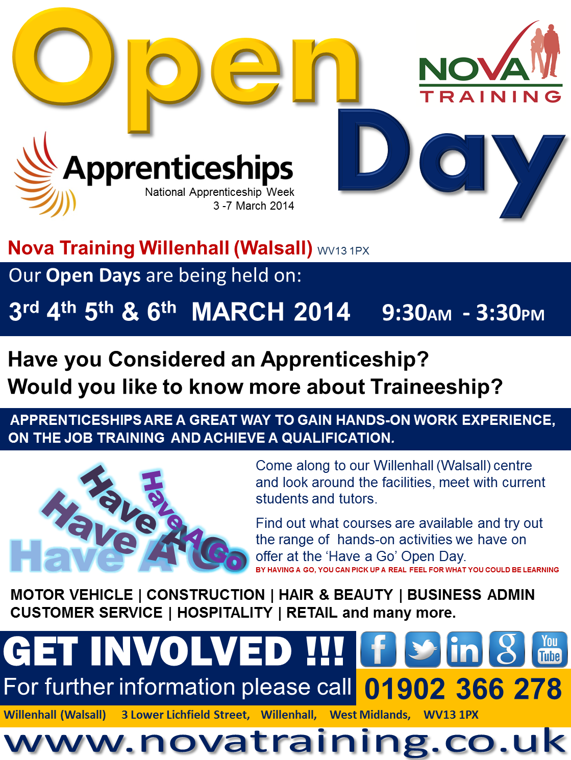 WILLENHALL (WALSALL) APPRENTICESHIP WEEK 2014