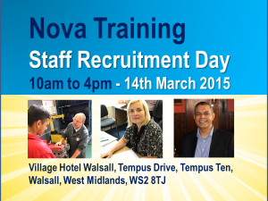Nova Training Recruitment Fair - 14th March 2015