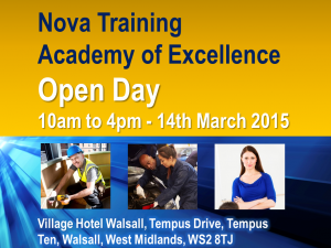 Tutor, Assessor & Learner Recruitment Fair - 14th March 2015