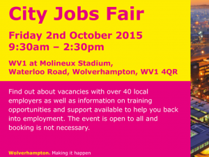 City Jobs Fair - Friday 2nd October 2015