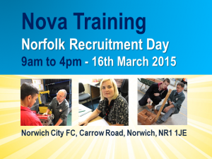 Nova Training, Norfolk Recruitment Day 9am to 4pm - 16th Oct 2015