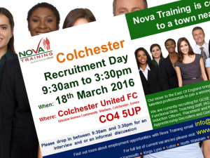 Nova Training Recruitment Open Day - Friday 18/03/2016 at Colchester United FC