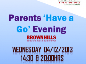 Parents 'Have a Go' Evening in Brownhills (Walsall)