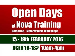 16-18 MOTOR VEHICLE - Dudley Open Day 15-19th February 10am to 4pm.