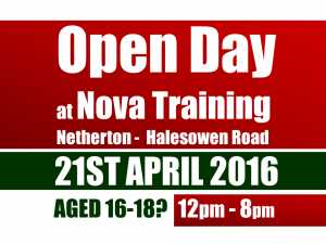 NETHERTON -  HALESOWEN ROAD - OPEN DAY - Thursday 21st  April 2016 from 12pm to 8pm.