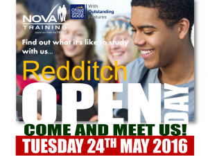 Open Day‬ - Redditch‬ - Tuesday 24th May 2016 from 10am-15:30pm