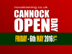 CANNOCK - Open Day - Friday 6th May 2016 - 10AM-4PM.