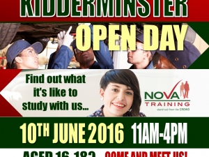 Kidderminster Open Day on Friday 10th  June from 11am to 4pm