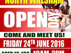 North Walsham Open Day - Friday 24th June from 10am to 2pm