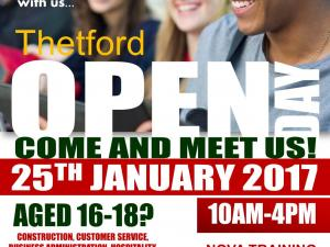 Open DAY in Thetford 25th January 2017 from 10am to 4pm