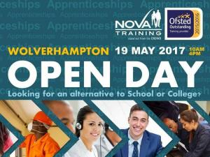 WOLVERHAMPTON'S OUTSTANDING TRAINING PROVIDER IS HAVING AN OPEN DAY! Friday 19th May from 10am to 4pm