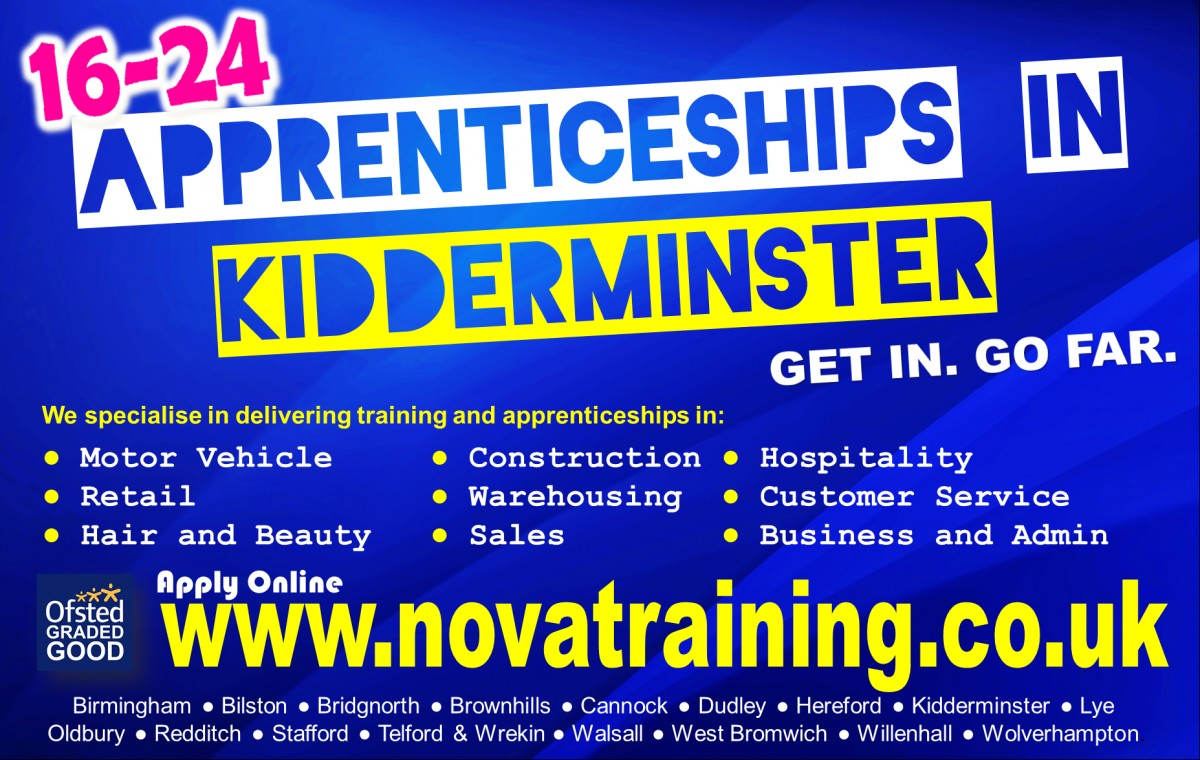 APPRENTICESHIPS IN KIDDERMINSTER