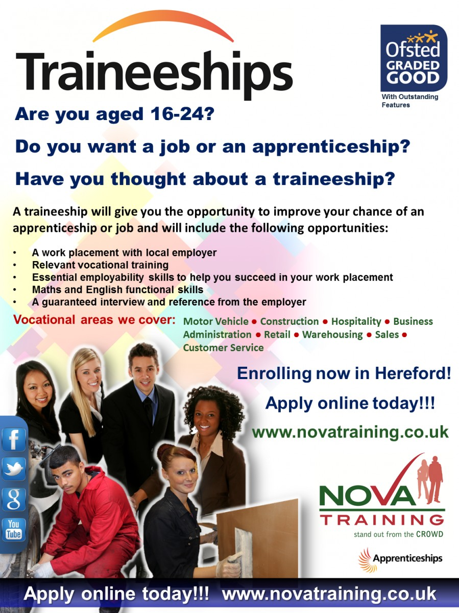 Traineeships in Hereford