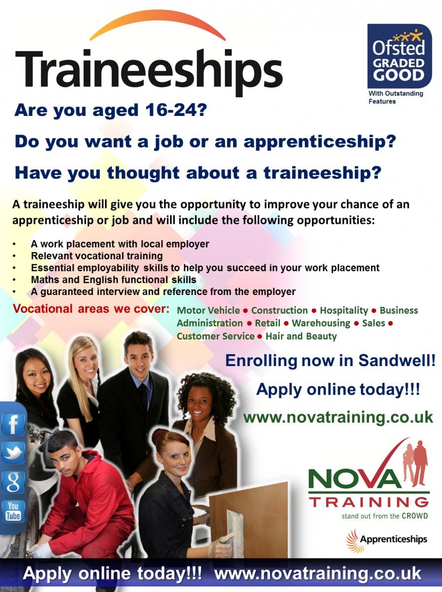 Traineeships in Sandwell - Oldbury